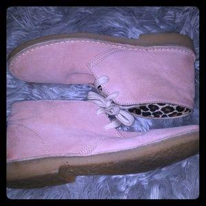Aldo pink suade boots